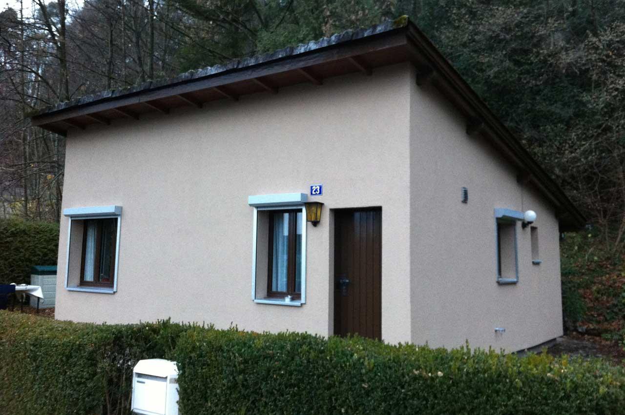 Haus nach der Wärmedämmung